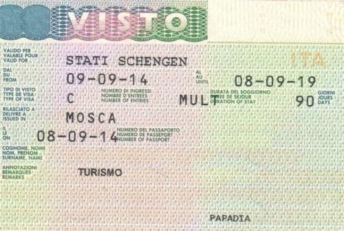 Виза для посещения Италии