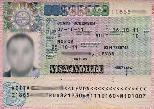 Итальянская шенгенская виза