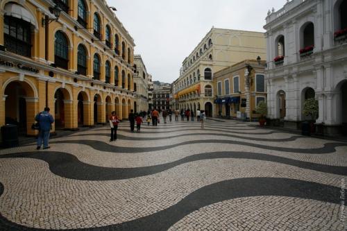 Красивая улица в Макао