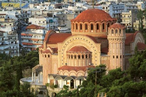 Красивый вид на город в Македонии