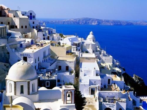 Красивый вид на Крите