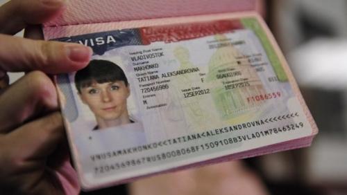 Американская виза с фотографией