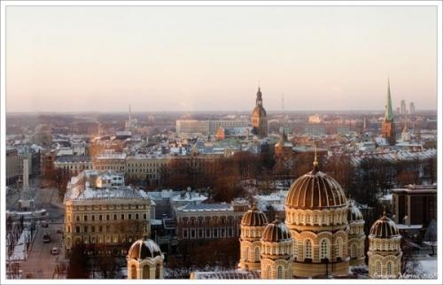 Красивый вид в Латвии