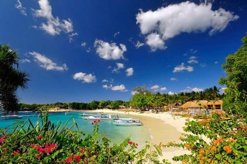 Красивый вид на пляж