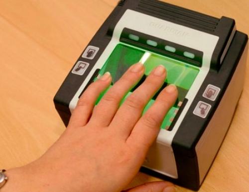 Снятие отпечатков пальцев для визы