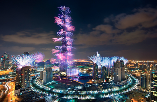 Красивый вид на Дубай