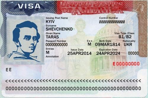 Виза для украинца в США