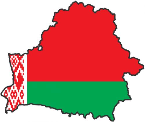 Очертания страны Белоруссии