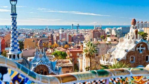 Красивый вид на город в Испании