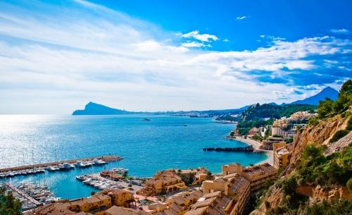Вид на берег в Испании