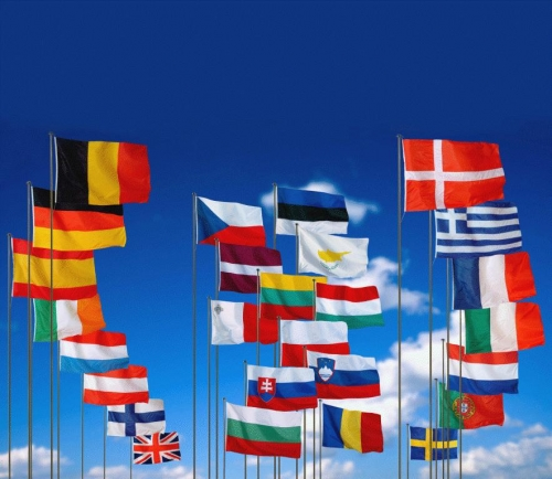 Флаги стран-участниц шенгенского соглашения