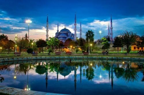 Красивый вид на отдыхе в Турции