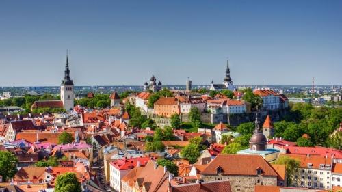 Красивый вид в Таллине