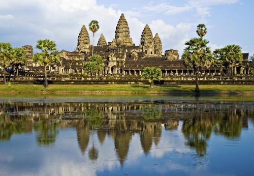 Красивый вид на достопримечательности Камбоджи