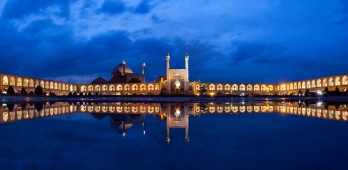 Красивый вид на достопримечательность Ирана