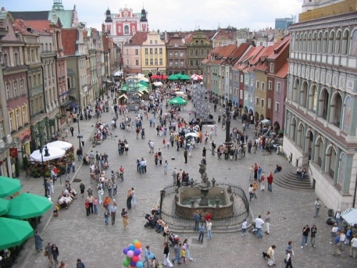 Красивая улица в Польше
