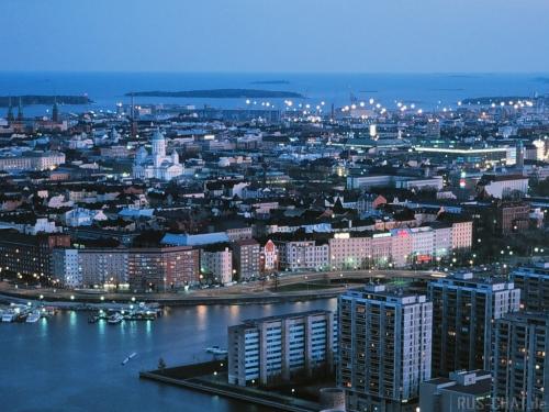 Вид на город в Финляндии