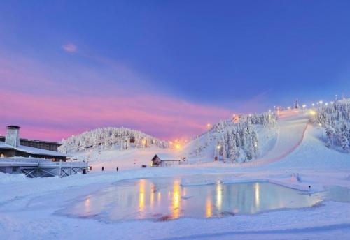 Спуск зимой в Финляндии