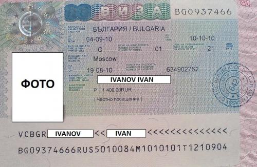 Шенген виза для Болгарии