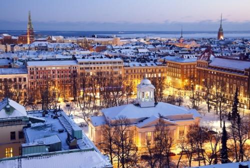 Красивый вид на Финляндию