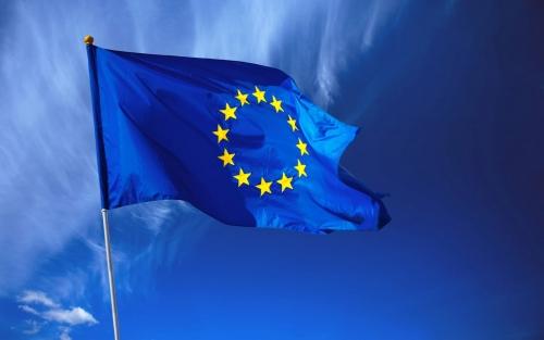 Синий флаг Шенгенского соглашения