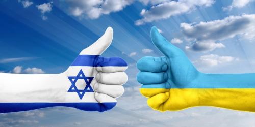 Израильский и украинский флаг