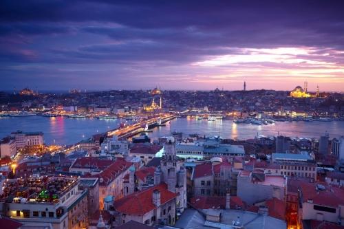 Красивый вид на турецкий город