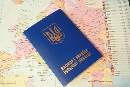 Украинский паспорт на карте