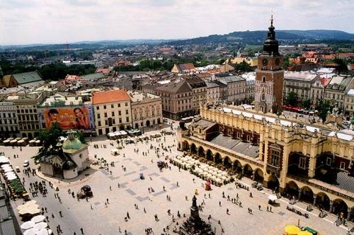 Красивый вид на город в Польше