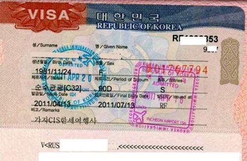 Виза для поездки в Корею