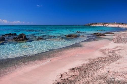 Берег пляжа на Крите