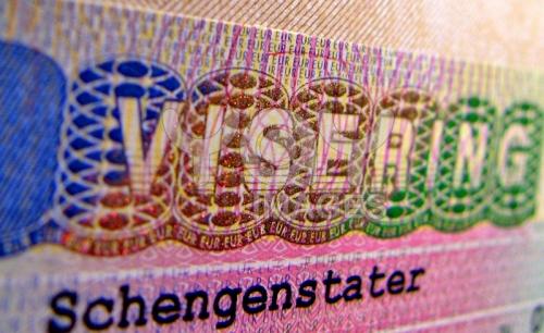 Образец шенгенской визы в паспорте