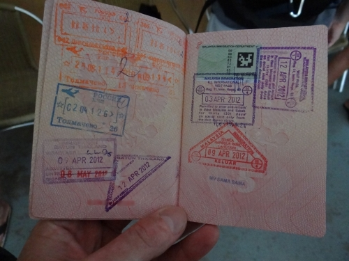 Паспорт с визой в Малайзию