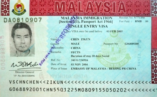 Виза для посещения Малайзии
