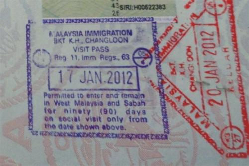 Паспорт с визой для Малайзии