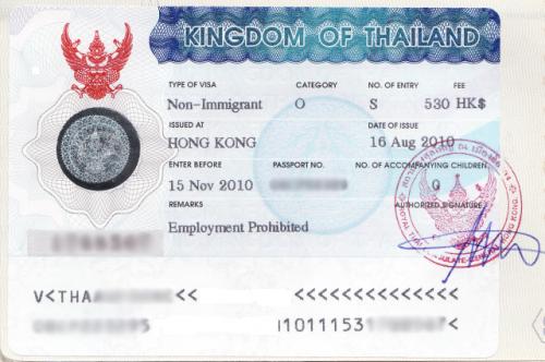 Виза для посещения Таиланда