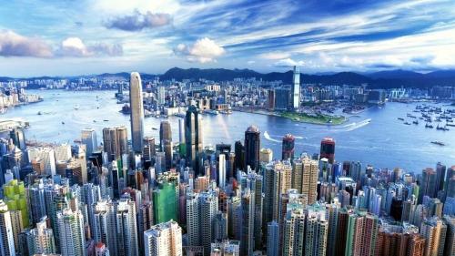 Красивый вид на Гонконг