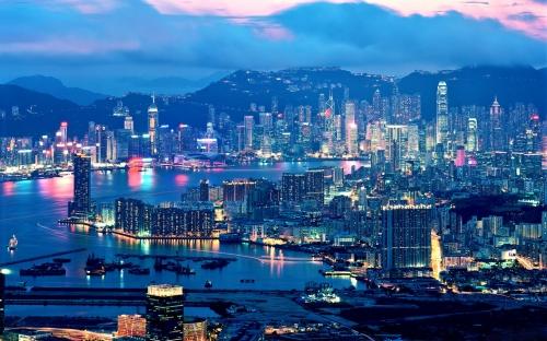 Красивый вид на город в Китае