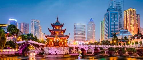 Вид на вечерний Китай