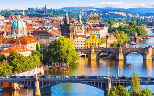 Красивый вид в Чехии