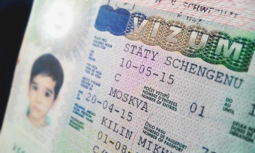 Образец шенгенской визы