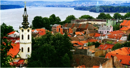 Вид на город в Сербии