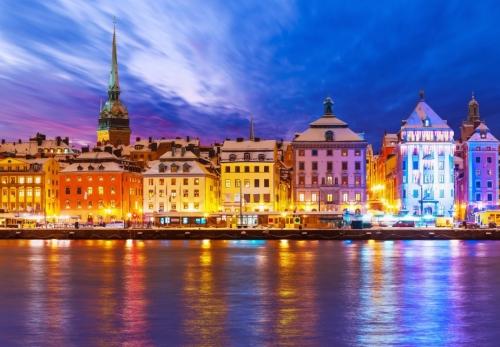 Красивый вид на шведский город