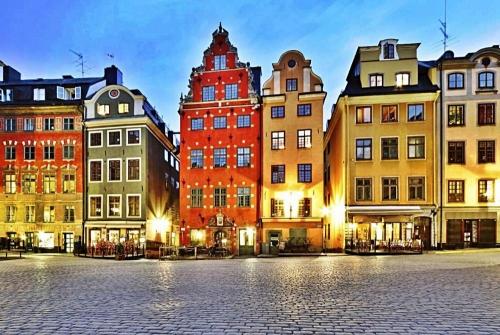 Красивый город в Швеции