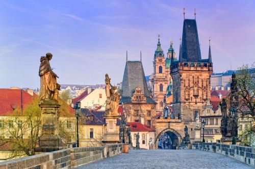 Красивый вид на Прагу