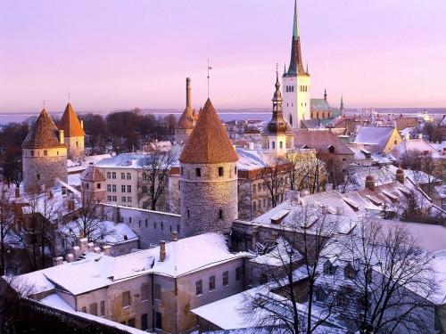 Эстонские достопримечательности зимой