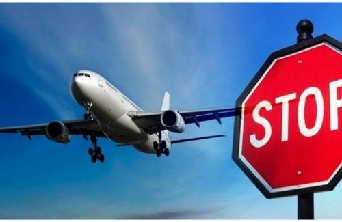 Самолет и знак стоп