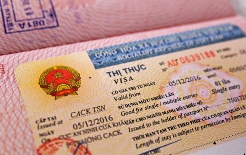 Вьетнамская виза в паспорте