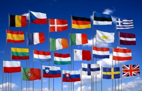 Флаги стран шенгенской зоны
