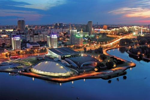 Набережная в Белоруссии